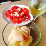 トマトと桃のパスタはこうやって作りました!レシピを公開します♪